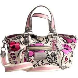 Coach Poppy Petal Print Rocker Purse